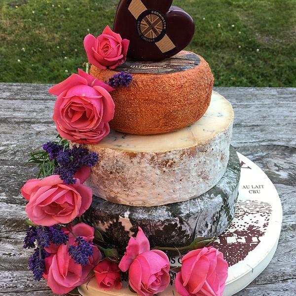 cheese tower cake