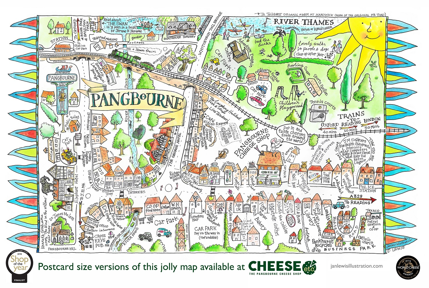 directions to pangbourne cheese shop